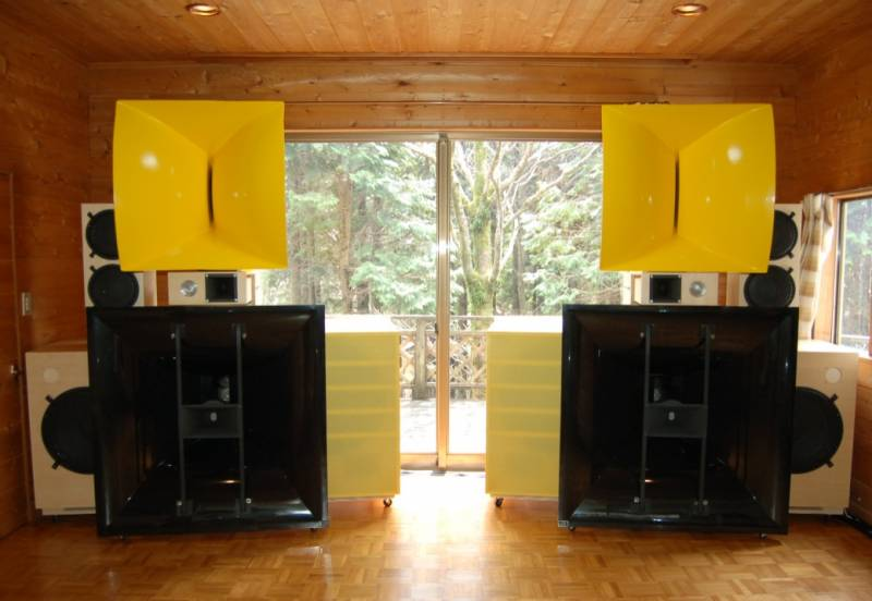 My Yellow Horn Speaker System (3)