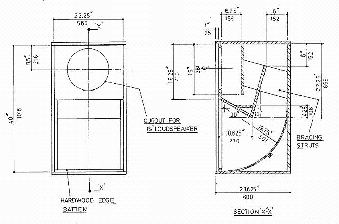 JBL Speaker Cabinet Design Plans