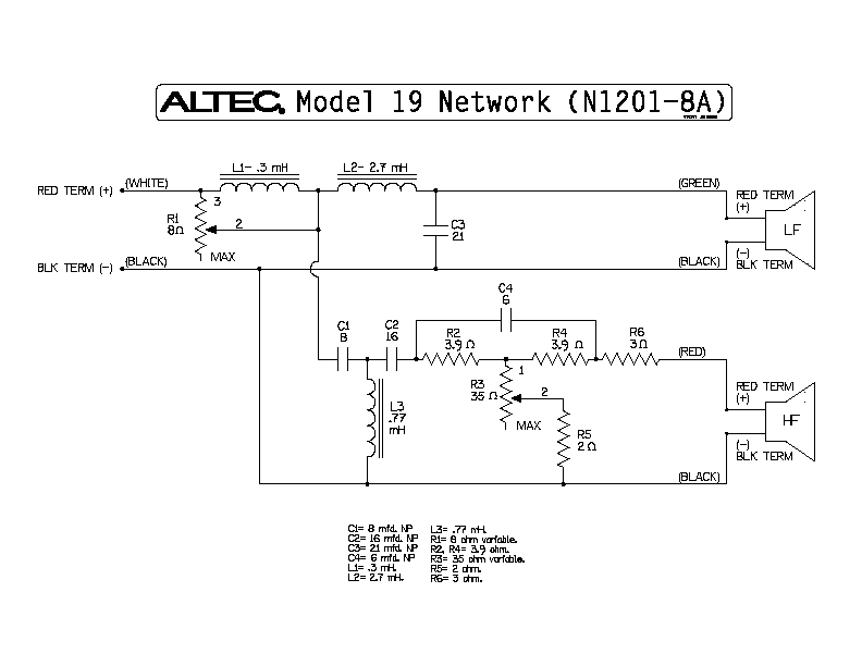 Famous Jbl L40 Crossover Component - Simple Wiring Diagram ...