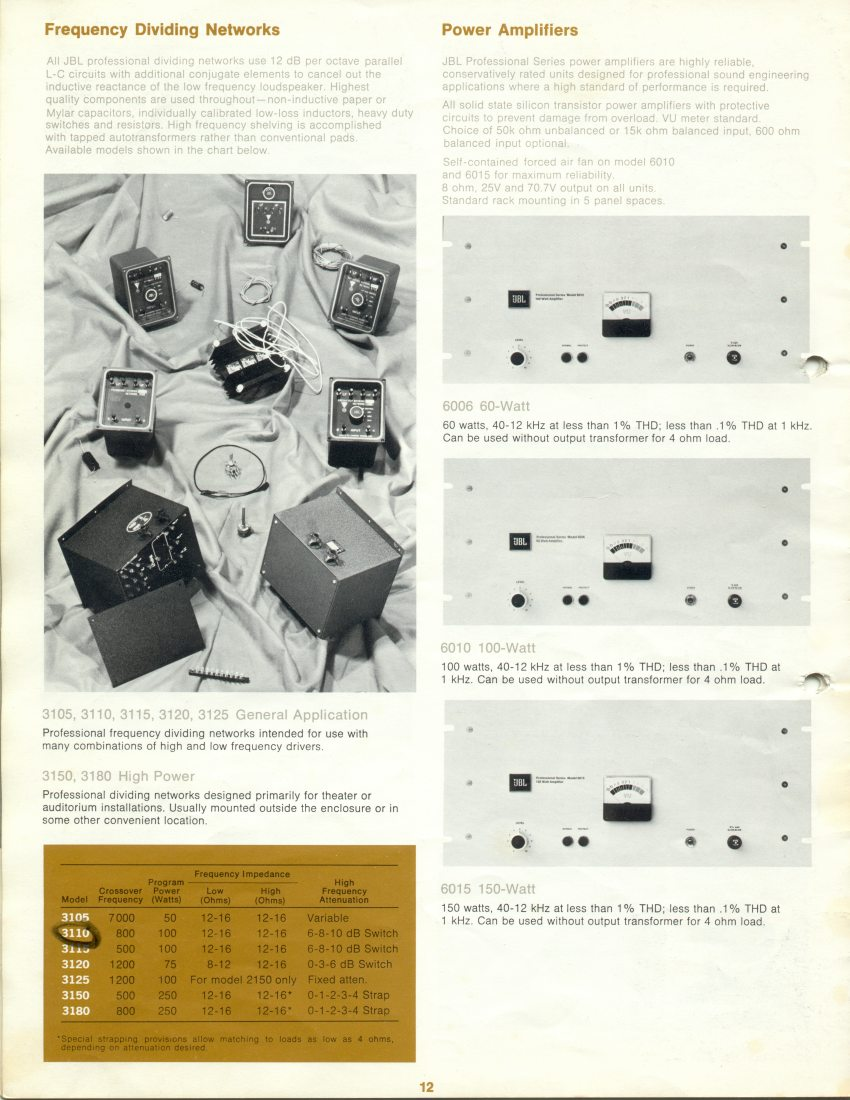 catalogue JBL pro de 1971 Attachment
