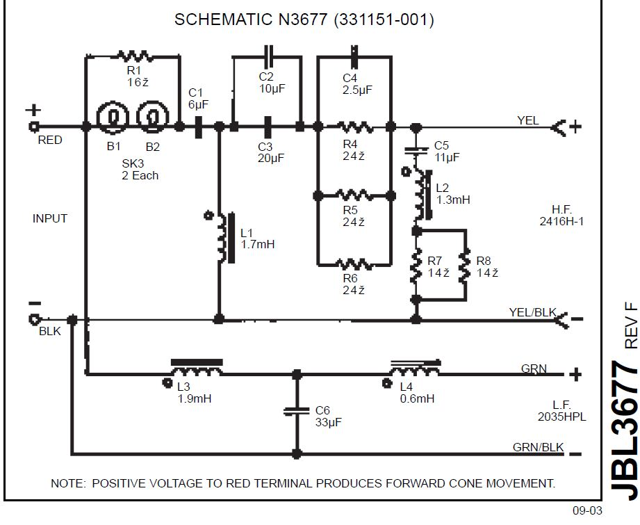 Nice Jbl Crossover Wiring Diagram Component - Electrical and Wiring ...