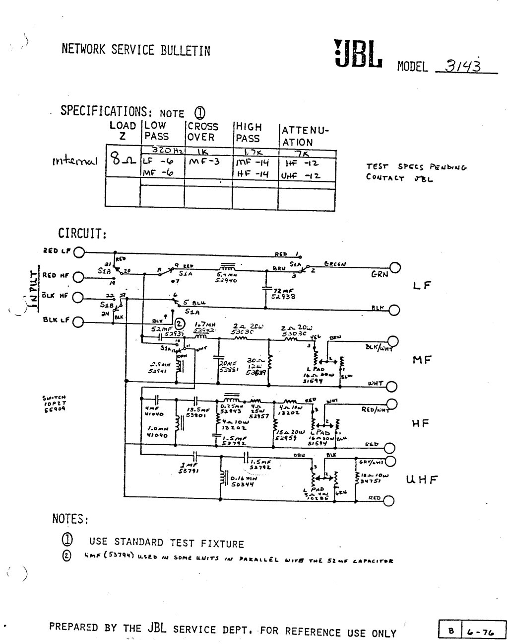 4343 Crossover Modifications Page 11 Schematic