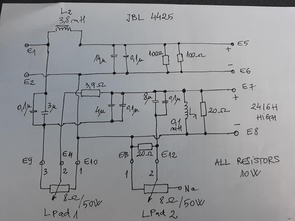 help for JBL 4425 crossover problem Jbl Way Crossover Wiring Diagram on