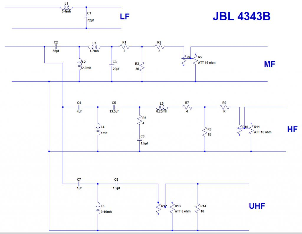 jbl 4343 crossover 3143 upgrade jbl control 28 wiring diagram #3